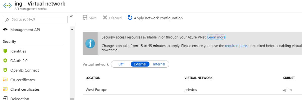 Azure API Management and Azure Kubernetes Service