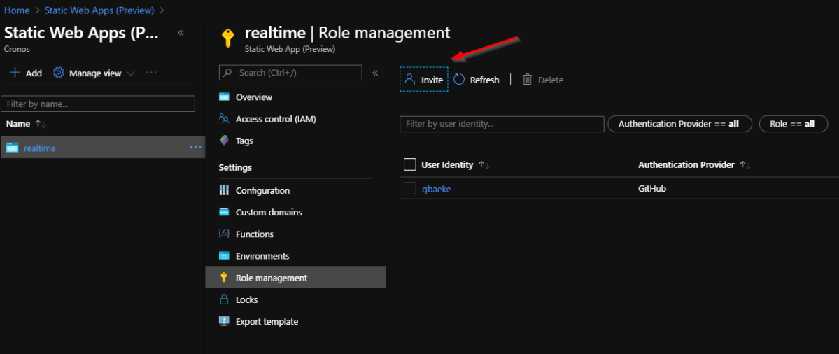 Adding Authentication and Authorization to an Azure Static Web App