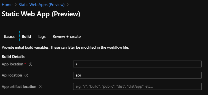 First Look at Azure Static WebApps