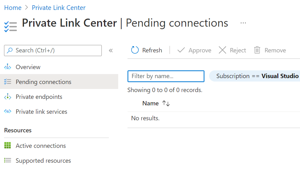 Approving a private endpoint connection with AzureCLI